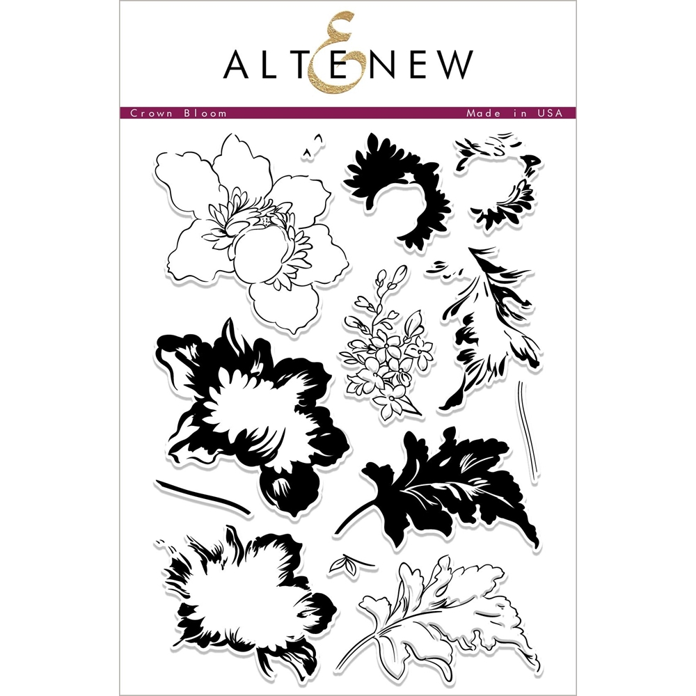 Altenew CROWN BLOOM Clear Stamps ALT2259 zoom image