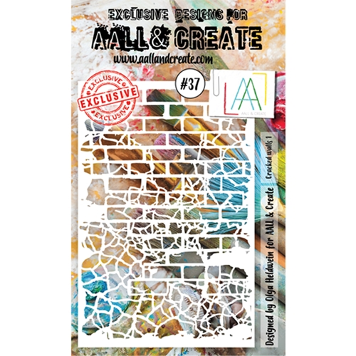 AALL & Create CRACKED WALLS 1 Stencil 37 6x4 aal10037 Preview Image