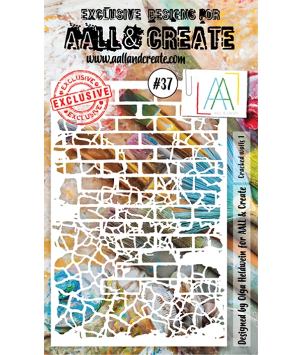 AALL & Create CRACKED WALLS 1 Stencil 37 6x4 aal10037 zoom image