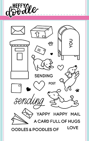 Heffy Doodle YAPPY HAPPY MAIL Clear Stamps hfd0052 Preview Image