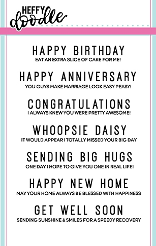 Heffy Doodle EVERYDAY SENTIMENT DUOS Clear Stamps hfd0062 Preview Image