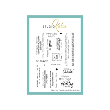 Studio Katia BIRTHDAY GREETINGS Clear Stamps stks057