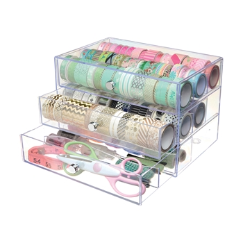 Deflecto WASHI TAPE STORAGE Cube 350901cr