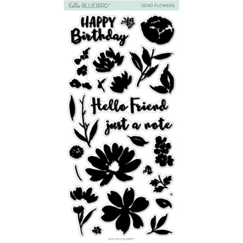 Hello Bluebird SEND FLOWERS Clear Stamps hb2010*