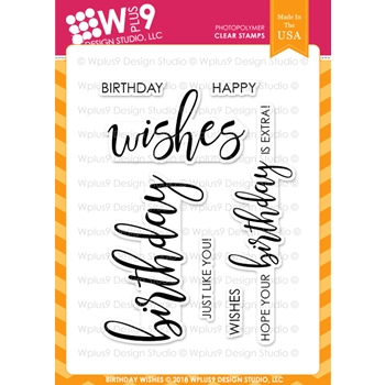 Wplus9 BIRTHDAY WISHES Clear Stamps cl-wp9bw