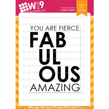 Wplus9 FIERCE AND FABULOUS Clear Stamps cl-wp9ffa