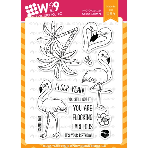 Wplus9 FLOCK YEAH Clear Stamps cl-wp9fy Preview Image