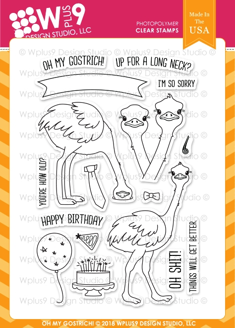 Wplus9 OH MY GOSTRICH Clear Stamps cl-wp9omg zoom image