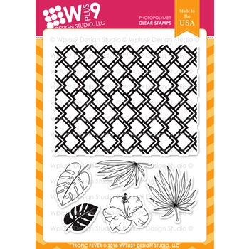 Wplus9 TROPIC FEVER Clear Stamps cl-wp9trf