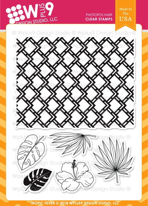 Wplus9 TROPIC FEVER Clear Stamps cl-wp9trf zoom image