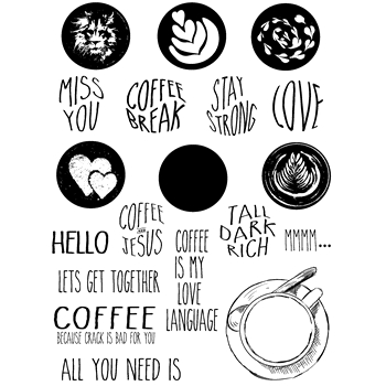 Joy Clair COFFEE TALK Clear Stamp Set clr02171