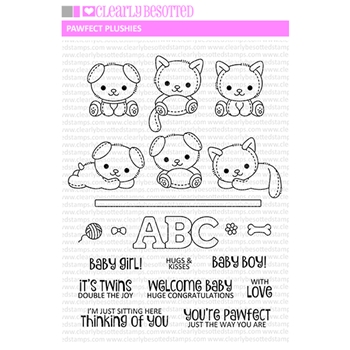 Clearly Besotted PAWFECT PLUSHIES Clear Stamps*