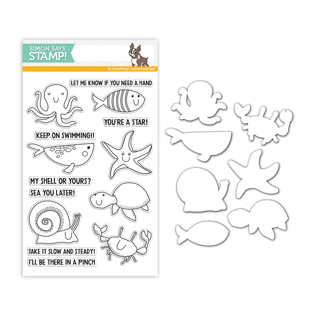 Simon Says Stamps And Dies UNDER THE SEA ANIMALS set323us Fluttering By * zoom image