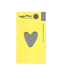 Waffle Flower TINY PAINTED HEART Die 310230