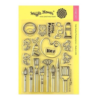 Waffle Flower LITTLE PAINTERS Clear Stamps 271185