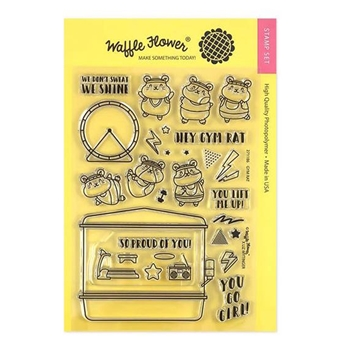 Waffle Flower GYM RAT Clear Stamps 271186*