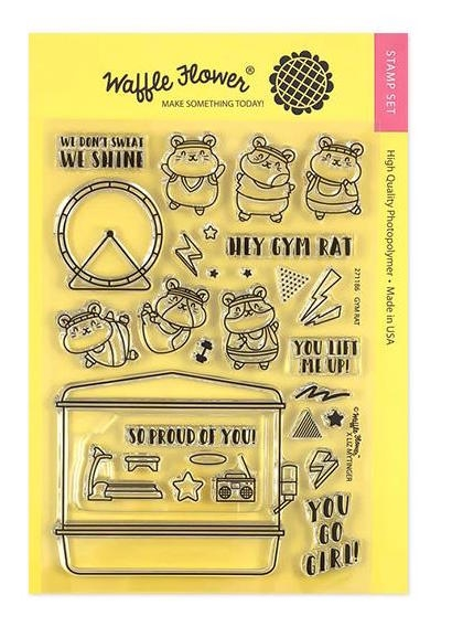 Waffle Flower GYM RAT Clear Stamps 271186* zoom image