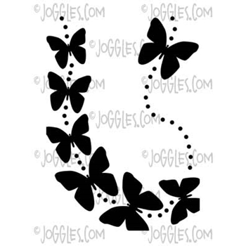 Joggles WINGED THINGS 2 Itty Bitty Stencil 57458