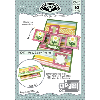 Karen Burniston UPSY DAISY POP UP Die Set 1047