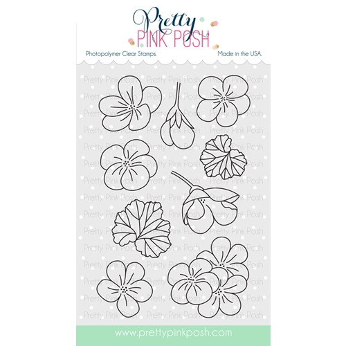 Pretty Pink Posh GERANIUMS Stamps  Preview Image