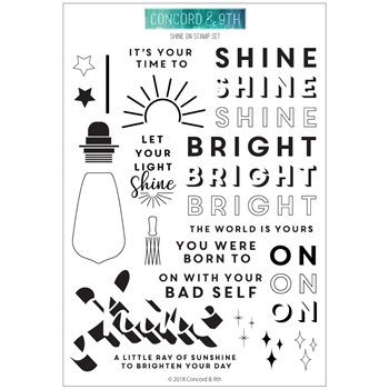 Concord & 9th SHINE ON Clear Stamp Set 10414