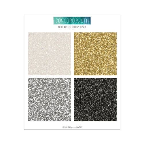 Concord and 9th Neutrals 6x6 Glitter Card