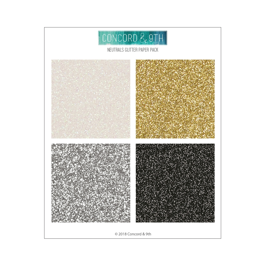 Concord & 9th NEUTRALS GLITTER 6x6 Paper Pack 10420 zoom image