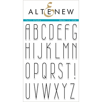 Altenew TALL ALPHA Clear Stamps ALT2341