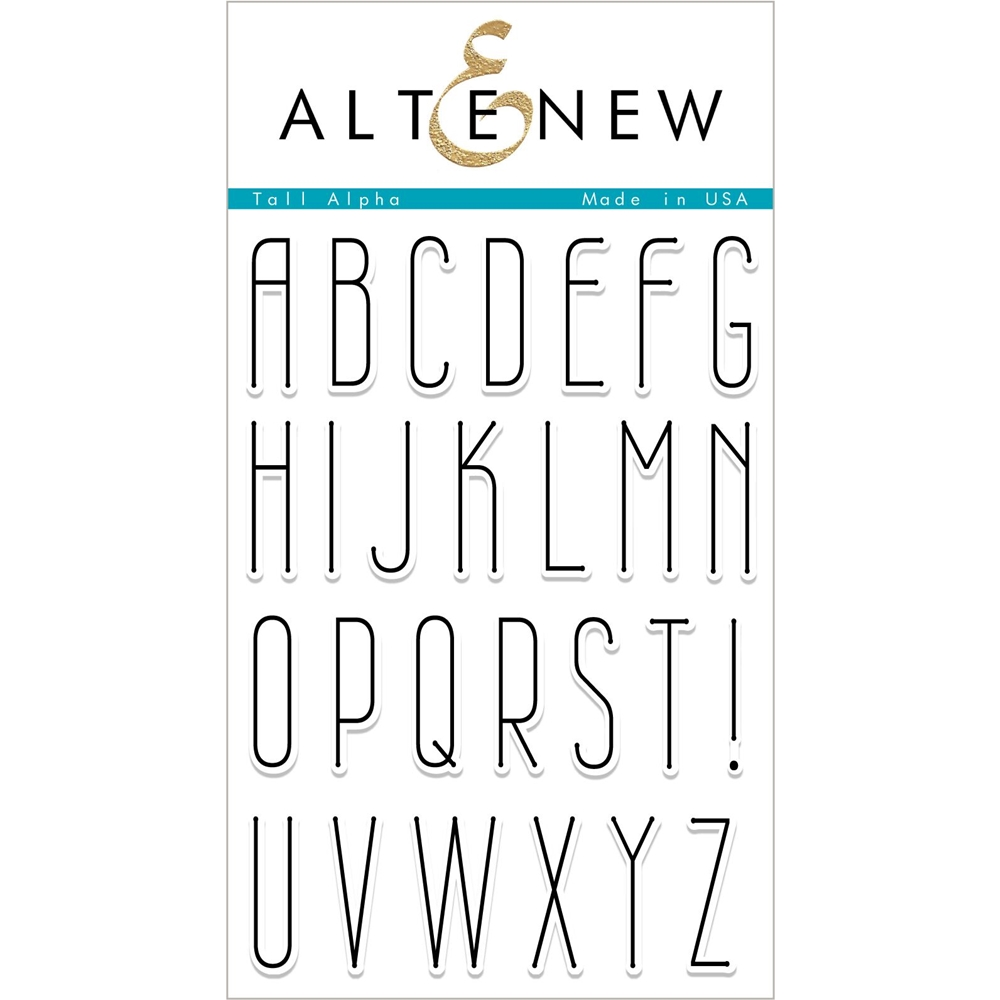 Altenew TALL ALPHA Clear Stamps ALT2341 zoom image