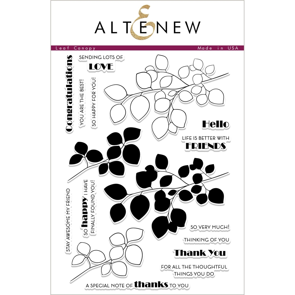 Altenew LEAF CANOPY Clear Stamps ALT2330 zoom image