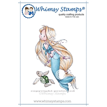 Whimsy Stamps NAIA THE MERMAID Rubber Cling Stamp mf114
