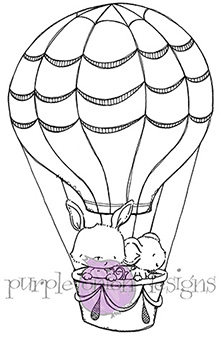 Purple Onion Designs UP AND AWAY Cling Stamp pod1004*
