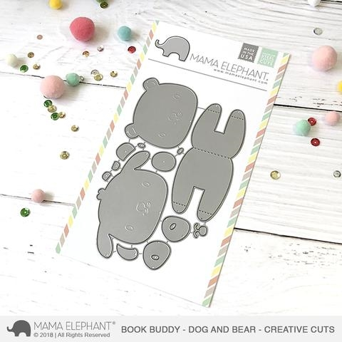 Mama Elephant BOOK BUDDY Creative Cuts Steel Dies Preview Image