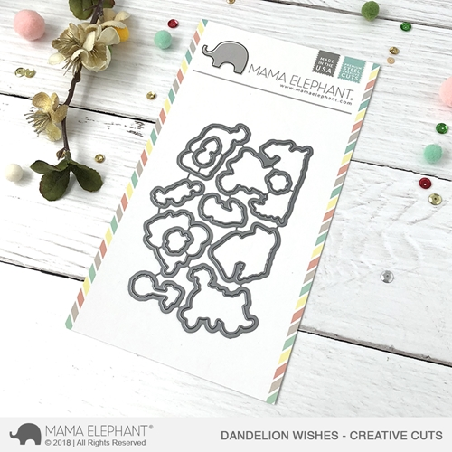 Mama Elephant DANDELION WISHES Creative Cuts Steel Dies Preview Image