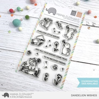 Mama Elephant Clear Stamps DANDELION WISHES