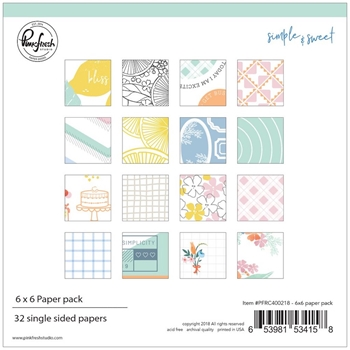 Pinkfresh Studio SIMPLE & SWEET 6 x 6 Paper Pack pfrc400218