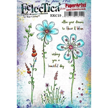 Paper Artsy ECLECTICA3 KAY CARLEY 19 Rubber Cling Stamp ekc19*