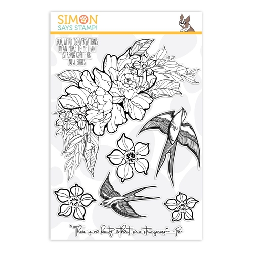 Simon Says Clear Stamps STRANGENESS sss101872 Good Vibes Preview Image