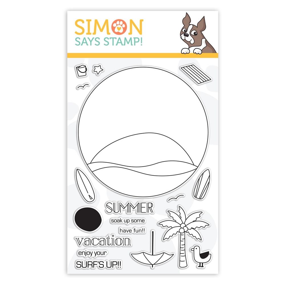 Simon Says Clear Stamps SURF'S UP sss101851 Good Vibes * zoom image