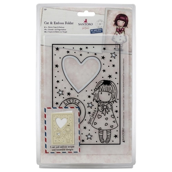 DoCrafts LITTLE HEART Cut & Emboss Folder Gorjuss go503014*