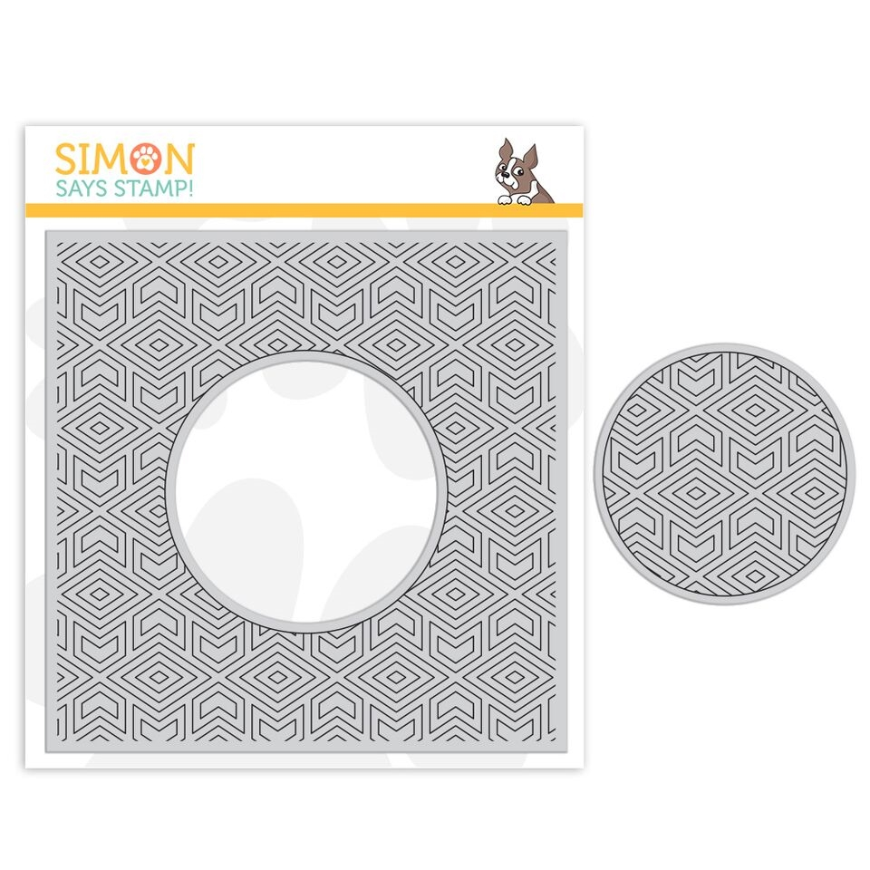 Simon Says Cling Rubber Stamp CENTER CUT GEOMETRIC PATTERN sss101856 Good Vibes zoom image