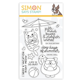Simon Says Clear Stamps SUMMER CUDDLY CRITTERS sss101854 Good Vibes *