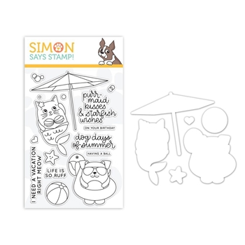 Simon Says Stamps And Dies SUMMER CUDDLY CRITTERS set324scc Good Vibes
