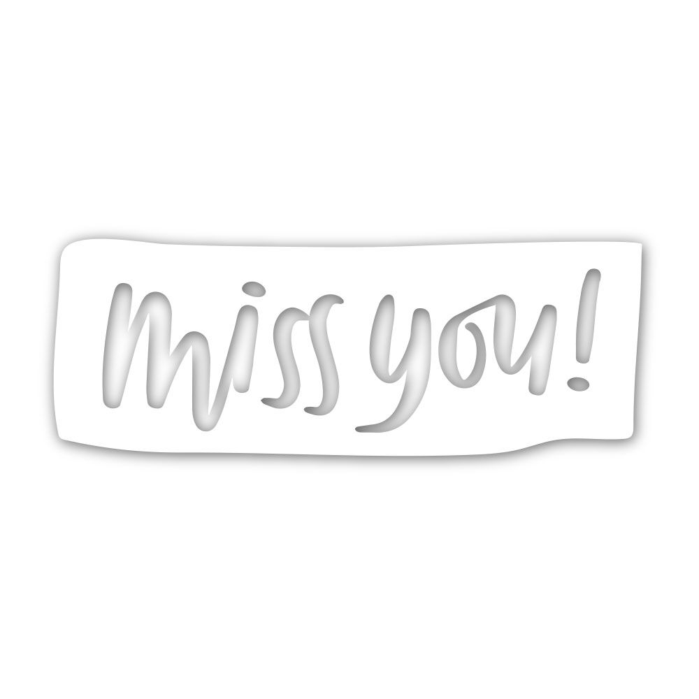 Simon Says Stamp MISS YOU BLOCK Wafer Dies sssd111842 Good Vibes zoom image