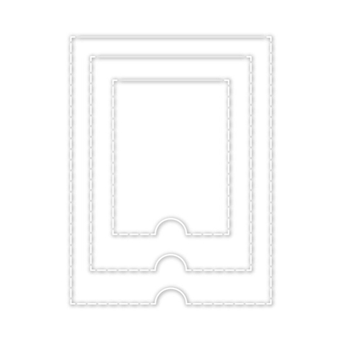 Simon Says Stamp PERFORATED FLAPS Wafer Dies sssd111840 Good Vibes Preview Image