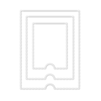 Simon Says Stamp PERFORATED FLAPS Wafer Dies sssd111840 Good Vibes
