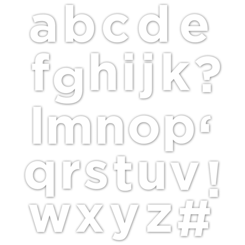 CZ Design Wafer Dies EVERETT SOLID LETTERS Czd27 Good Vibes Preview Image