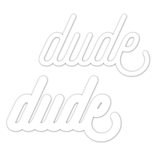 CZ Design Wafer Dies DUDE Czd26 Good Vibes Preview Image