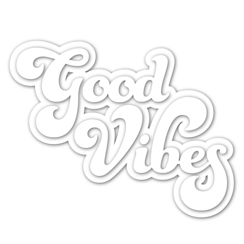 Simon Says Stamp GOOD VIBES Shadow Wafer Dies sssd111860 Preview Image