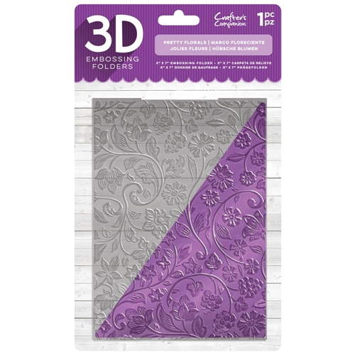 Crafters Companion Pretty Florals 3D Embossing Folder